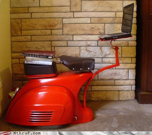 Monday Thru Friday: Office Swag: The best possible use for a Vespa