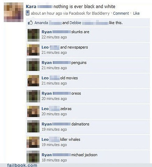 Failbook: Black & White