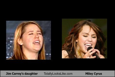 Jim Carrey's Daughter Totally Looks Like Miley Cyrus