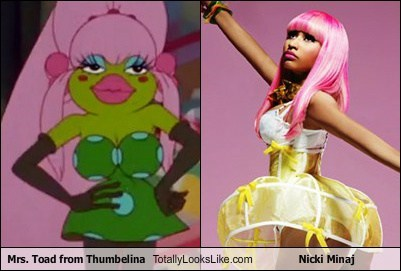 Mrs. Toad from Thumbelina Totally Looks Like Nicki Minaj