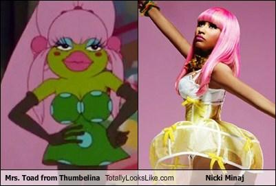 Mrs. Toad from Thumbelina Totally Looks Like Nicki Minaj