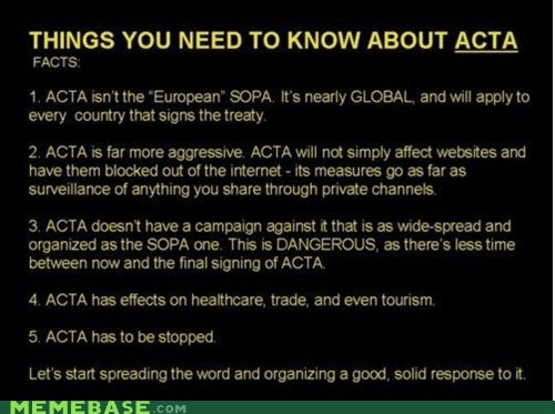ACTA: SOPA, European Style