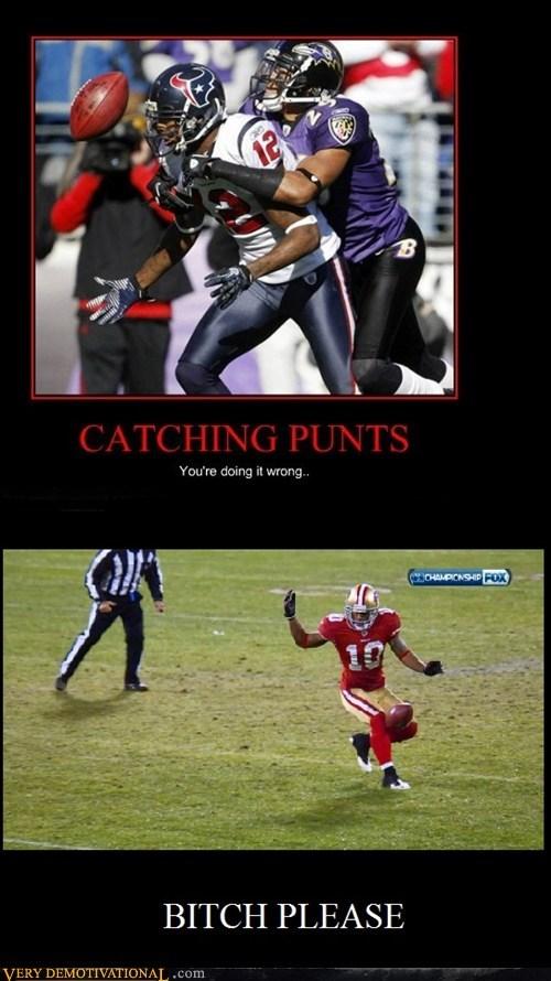 catching,football,hilarious,punts,sooper bowl,wtf