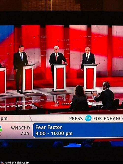 election 2012,fear factor,political pictures,republican debate,Republicans,television