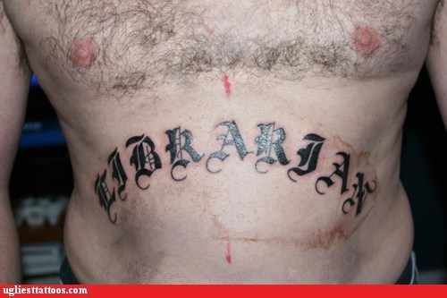 Ugliest Tattoos: Strictly 4 My C.A.R.D. C.A.T.A.L.O.G.Z.