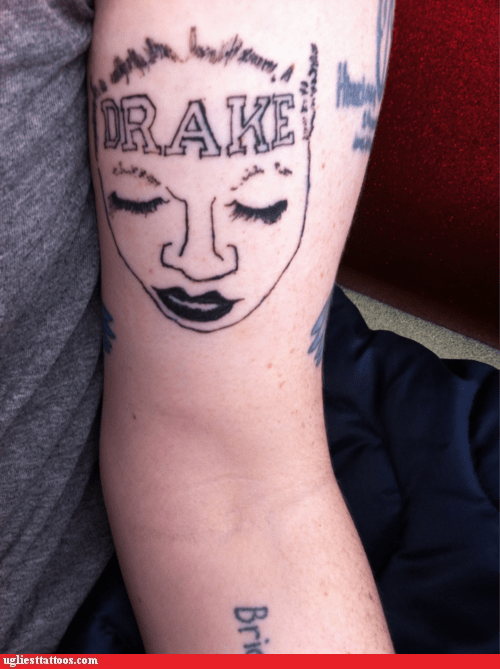 drake tattoo,girl with the drake tattoo,Hall of Fame,meta tattoo