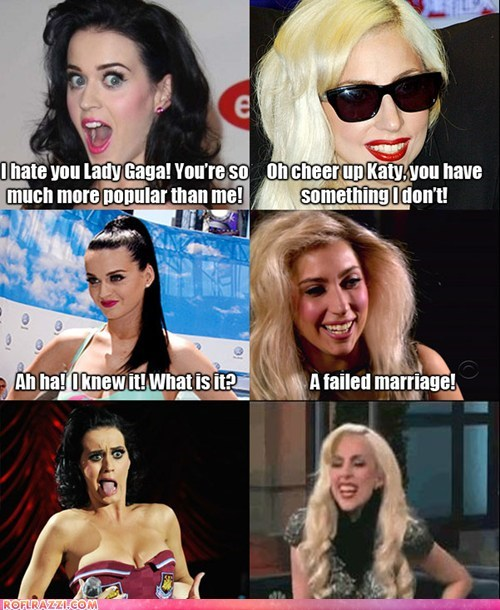 celeb,funny,katy perry,lady gaga,Music