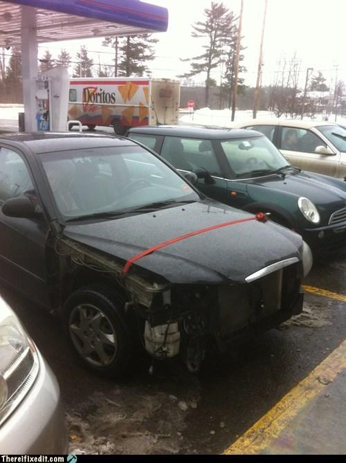 $30,000+ Car, $5 Ratchet Strap