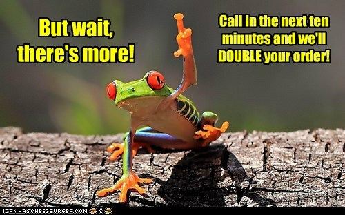animals,but-wait-theres-more,frog,infomercial,sales,selling