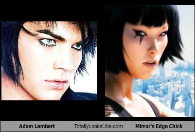 Adam Lambert Totally Looks Like Mirror's Edge Chick