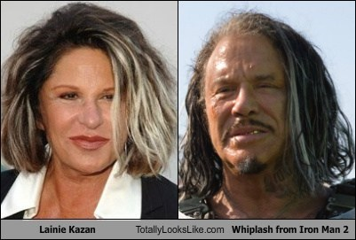 Lainie Kazan Totally Looks Like Whiplash (Mickey Rourke) from Iron Man 2