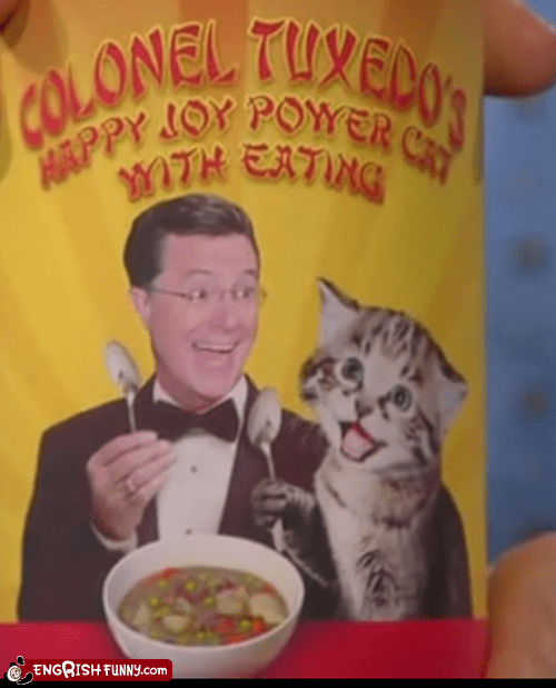 Stephen Colbert Breaks into the Engrish Food Business