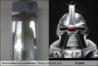 The Air Freshener In My Work Bathroom Totally Looks Like A Cylon