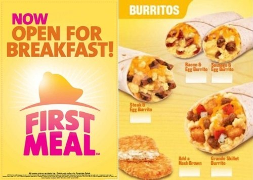 Taco Bell For Breakfast of the Day