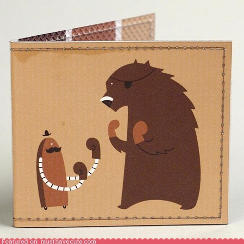 bear,boxing,fight,old timey,robot,wallet