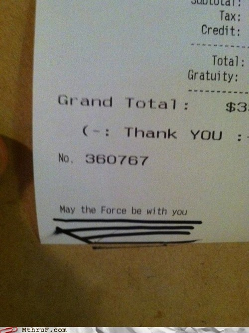 This is what happens when you eat the Jedi Temple's cafeteria