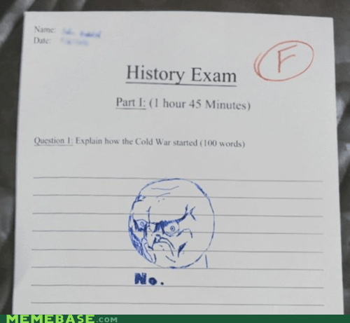 How I Failed My Social Studies Test...