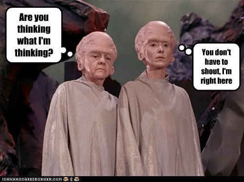 brains,shouting,Star Trek,talosians,the cage,the menagerie,thinking
