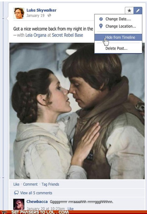 Luke Cleans Up his Facebook Page