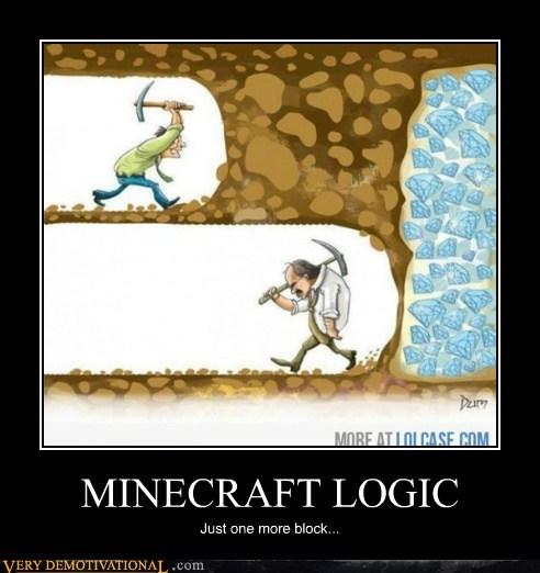 block,diamonds,hilarious,logic,minecraft