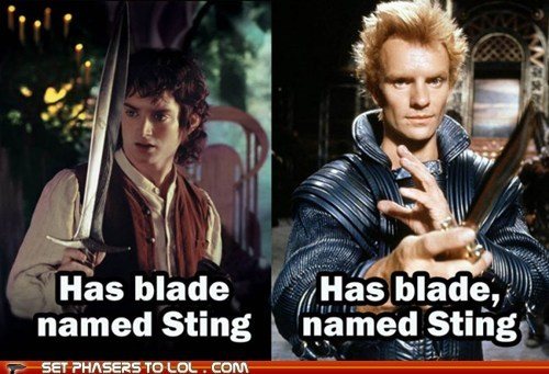 best of the week,blade,comma,Dune,elijah wood,Frodo Baggins,Lord of the Rings,sting