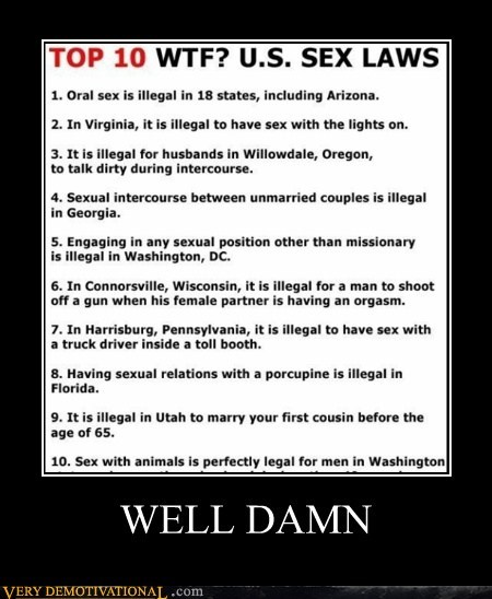 hilarious,laws,sexy times,us,weird