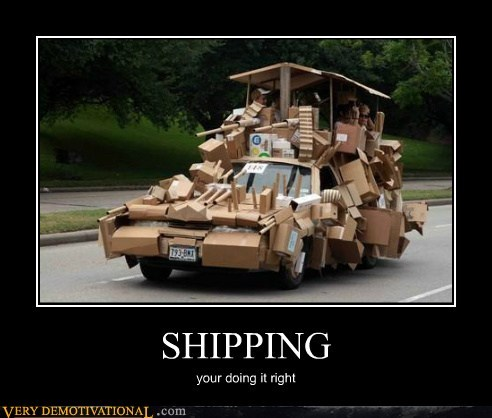 awesome,car,cardboard,hilarious,shipping