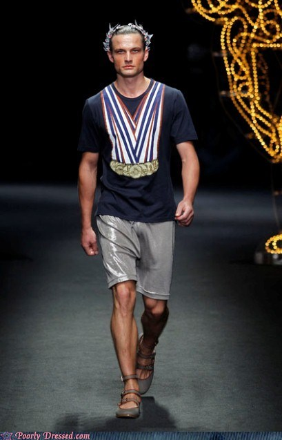 gold medals,runway,tshirts