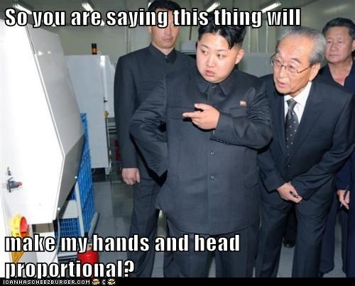 So you are saying this thing will  make my hands and head proportional?