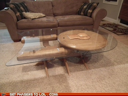 awesome,coffee table,enterprise,expensive,illogical,products,Star Trek