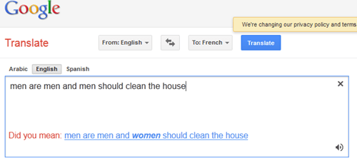 Sexist Google FAIL
