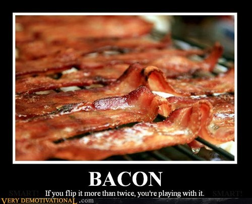 bacon,flip,hilarious,playing,twice