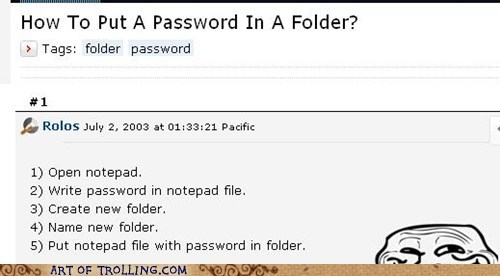 Oh, Did You Mean Password Protect?