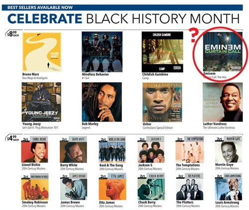 Celebrating Black History Month FAIL