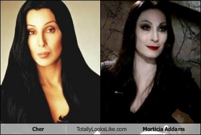 TLL Classic: Cher Totally Looks Like Morticia Addams (Anjelica Huston)