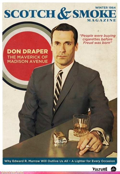 Don Draper on the Cover of his Favorite Magazine