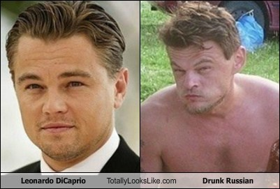 Leonardo DiCaprio Totally Looks Like Drunk Russian