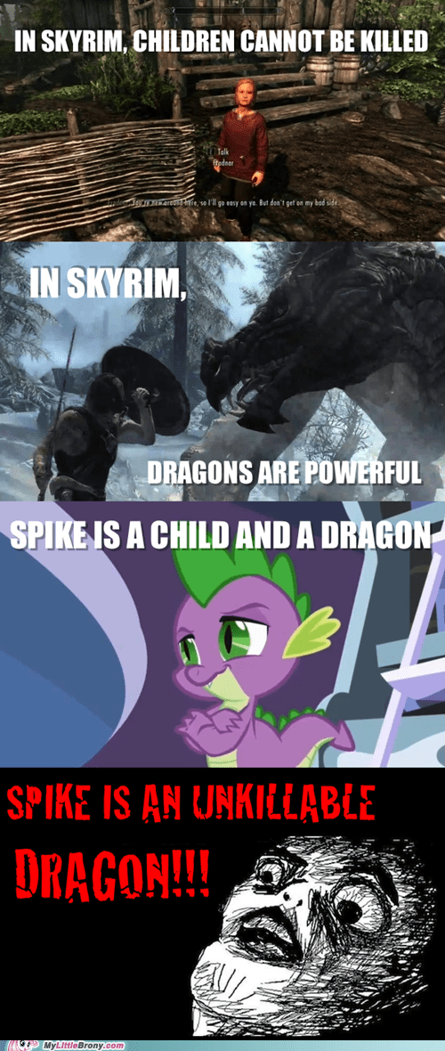 comics,dragons,elder scrolls,kid,Skyrim,spike,video games