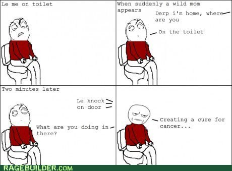 bathroom,cancer,poop,Rage Comics,toilet