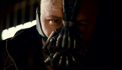 Tom Hardy On The Bane Mask of the Day