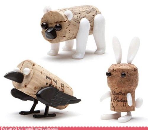 Pushpin Cork Creatures