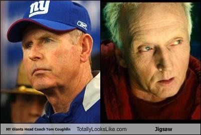 NY Giants Head Coach Tom Coughlin Totally Looks Like Jigsaw