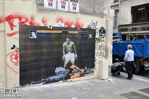 clever,combo,graffiti,hacked irl,Muhammad Ali,ryu,Street Art,Street fighter,video games