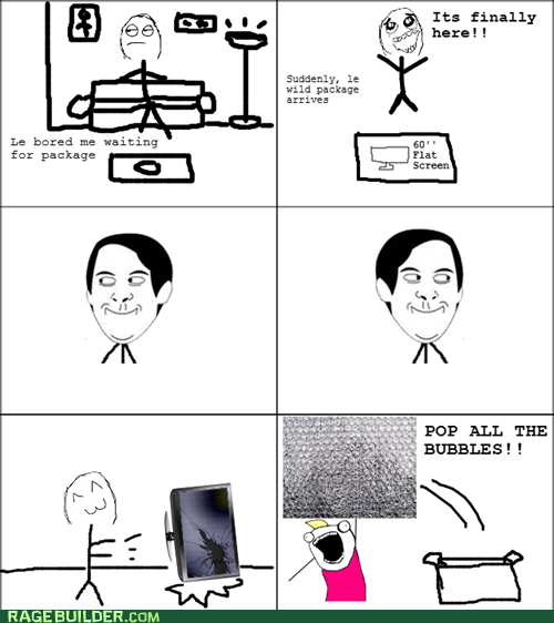 all the things,bubble wrap,package,Rage Comics