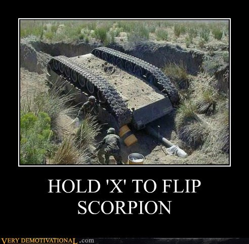 Classic: HOLD 'X' TO FLIP SCORPION