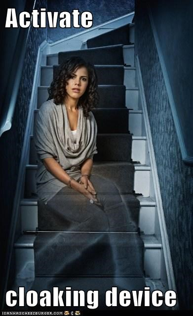 activate,annie,being human,cloaking,device,ghost,lenora crichlow