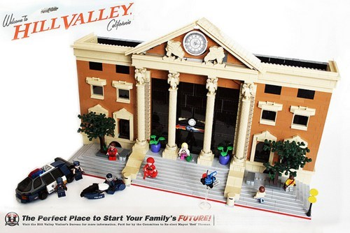 Lego Back to the Future Scenes of the Day