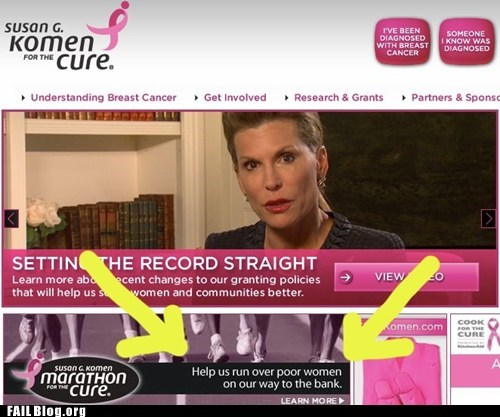 Cancer Benefit Slogan FAIL