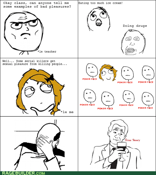 Rage Comics: Did You Hear About What That Weird Girl Said In Class?