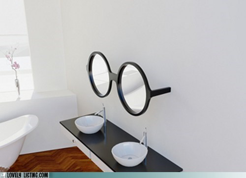 bathroom,best of the week,glasses,mirrors,the great gatsby